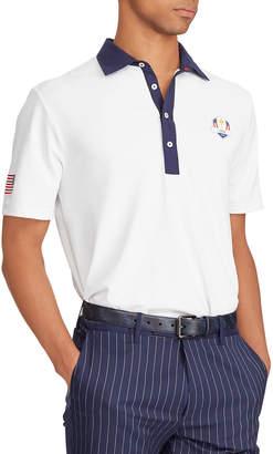 Ralph Lauren Men's Saturday USA Ryder Cup Lightweight Knit Golf Polo Shirt