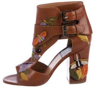 Laurence Dacade Leather Jacquard Sandals