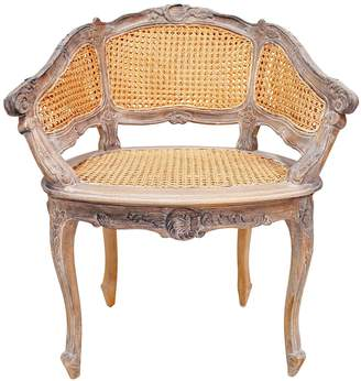 Hudson Furniture Armchairs Marcella Bergere Chair, Weathered Oak