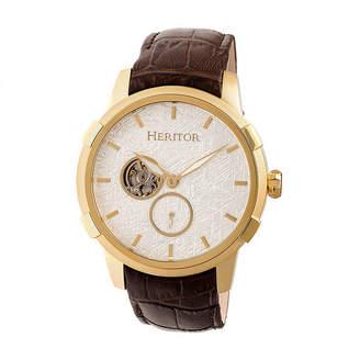 Heritor Unisex Brown Strap Watch-Herhr7204
