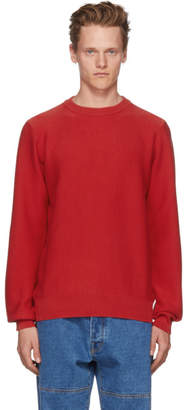 A.P.C. Red Marvin Crewneck Sweater