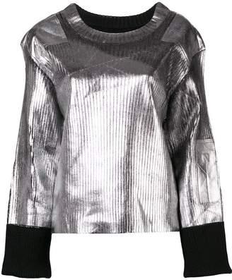 MM6 MAISON MARGIELA structured metallic sweater