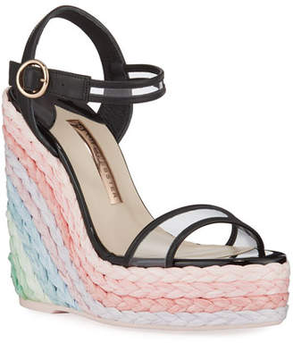 Sophia Webster Lucita Pastel Wedge Espadrilles