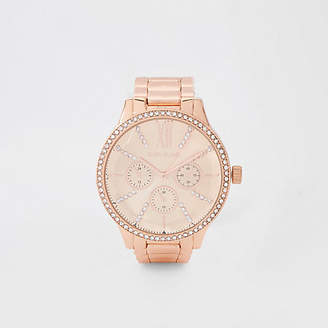 River Island Rose gold tone chain link strap watch