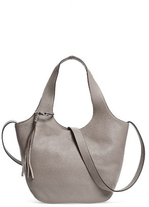 Elizabeth And James Small Finley Leather Shopper - Grey $475 thestylecure.com