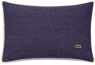 """Lacoste Caique Textured Stripe Pillow, 12"""" x 18"""""""