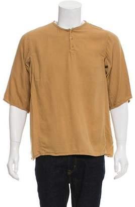 Blurhms Distressed Henley Shirt