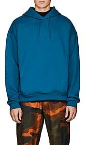 Martine Rose Men's Logo-Embroidered Cotton Hoodie-Lt. Blue