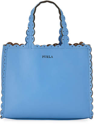 Furla Merletto Small Leather Tote Bag