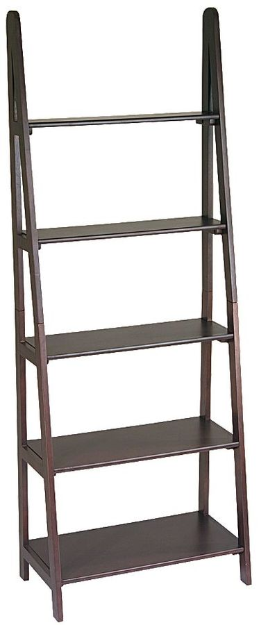 Office star products Home Star Products Espresso Ladder Bookcase
