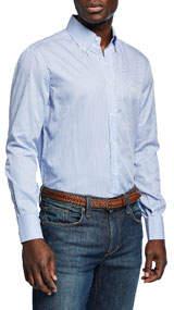Men's Long-Sleeve Striped Sport Shirt