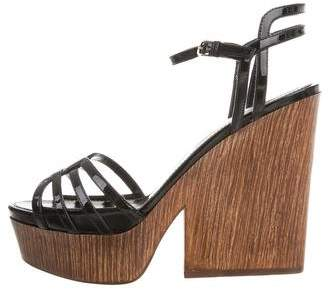 Sergio Rossi Leather Platform Sandals w/ Tags