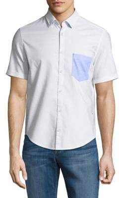 HUGO BOSS Short-Sleeve Button-Down Shirt
