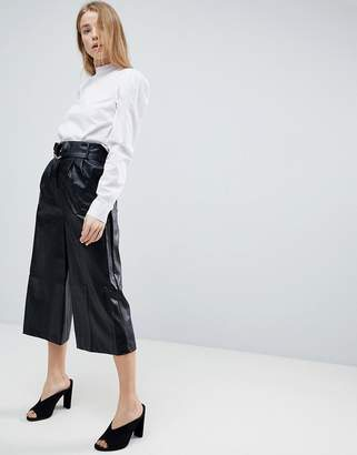 Girls On Film Faux Leather Culottes