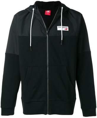 New Balance panelled logo hoodie