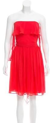 Halston Strapless Silk Dress w/ Tags