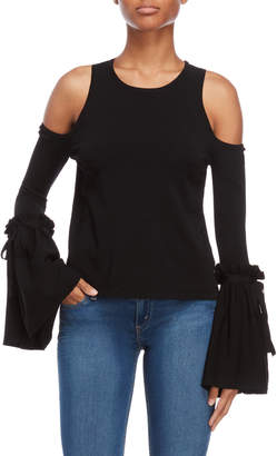 Milly Cold Shoulder Tie Bell Sleeve Top