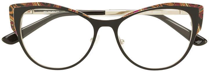 Etro printed cat-eye glasses