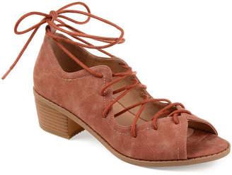 Journee Collection Womens Bowee Pumps Zip Peep Toe Block Heel