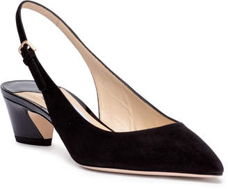 Jimmy Choo Gemma 40 black suede sling-back pumps