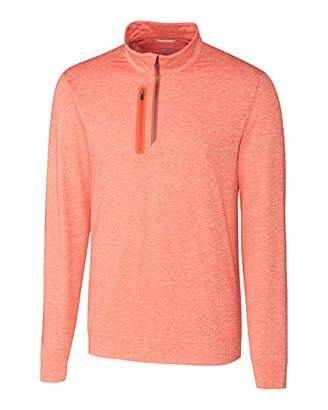 Cutter & Buck Men's Drytec Jersey Stealth Half Zip Performance Pullover