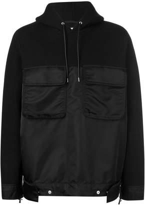 Sacai contrasting panel hoodie