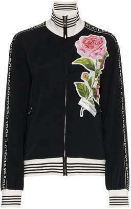 Dolce & Gabbana floral applique logo track top