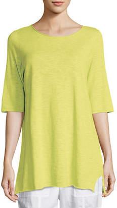 Eileen Fisher Half-Sleeve Linen-Blend Tunic, Petite