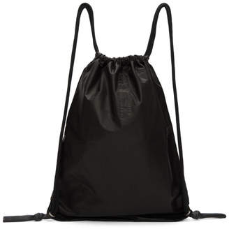 Rick Owens Black Drawstring Zaino Backpack