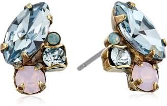 "Sorrelli Washed Pastels"" Multi-Cut Crystal Stud Earrings"