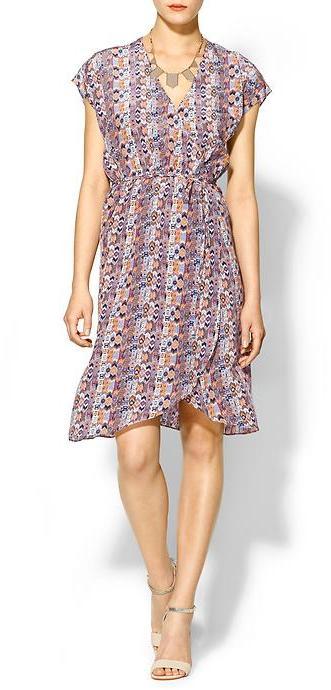 Tucker Silk Wrap Dress