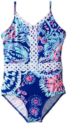 Lilly Pulitzer UPF 50+ Mals Swimsuit Girl's Swimsuits One Piece