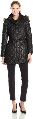 Andrew Marc by Women's Kava Diamond Quilted Down Coat
