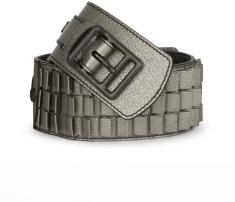 Leather Tile Waist Belt