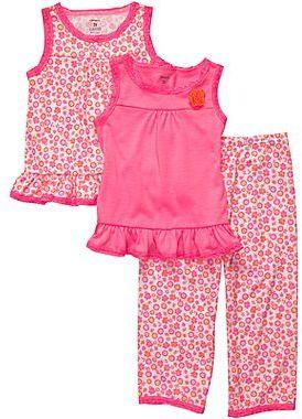 Carter's 3-pc. Pink Floral Pajamas - Girls 2t-5t