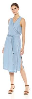 NYDJ Women's Wrap Dress with Release Hem