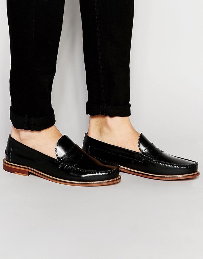 Ben ShermanBen Sherman Bouy Penny Loafers In Black