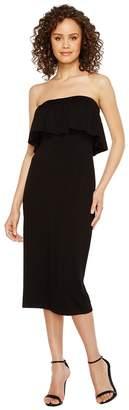 Vince Camuto Ruffle Off Shoulder Midi Dress Women's Dress
