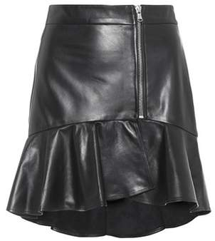 Veronica Beard Kaye leather miniskirt