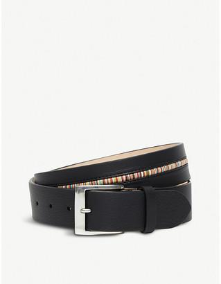 Paul Smith Centre stripe leather belt