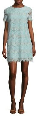 Cynthia Steffe Marley Short-Sleeve Lace Dress