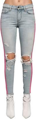 Amiri Skinny Destroyed Cotton Denim Jeans