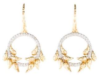 Phillips House 14K Diamond Open Petal Earrings