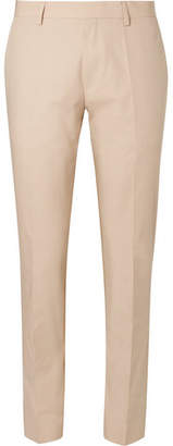 HUGO BOSS Beige Genesis Slim-Fit Cotton-Poplin Suit Trousers - Beige