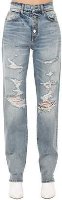 Amiri Destroyed Cotton Denim Jeans
