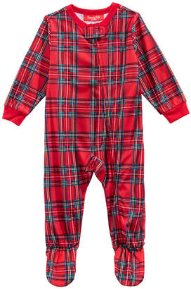 Macy's Family Pajamas Matching Infant Brinkley Plaid Footed Pajamas, Created for