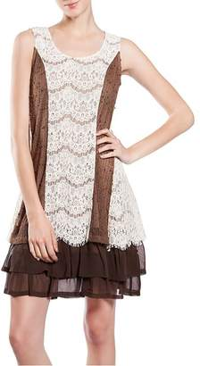 The Vintage Valet Brown Lace Dress