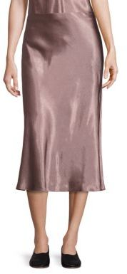 Vince Flared Midi Skirt $245 thestylecure.com