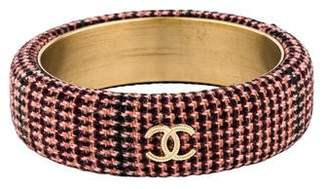 Chanel CC Tweed Bangle
