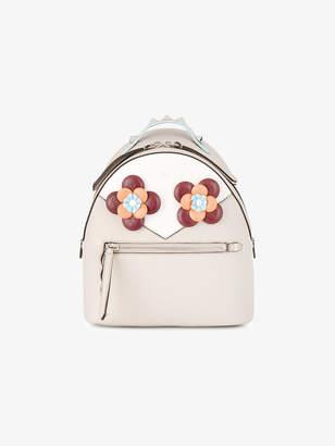 Fendi White floral eyes backpack